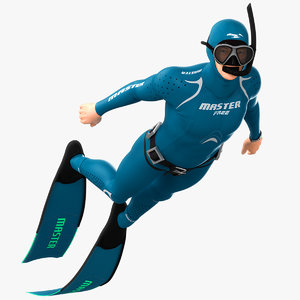 3D animations scuba diver model