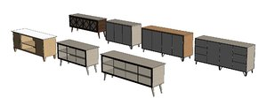 3D credenza table