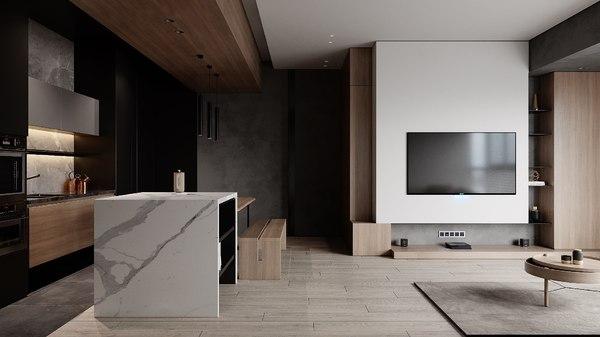 interior livingroom 3D model