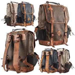canvas backpack dakota commuter 3D model