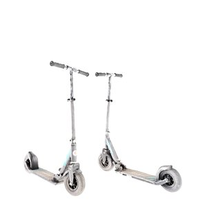 equipped gray kick scooter model