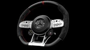 3D model amg steering wheel 2019
