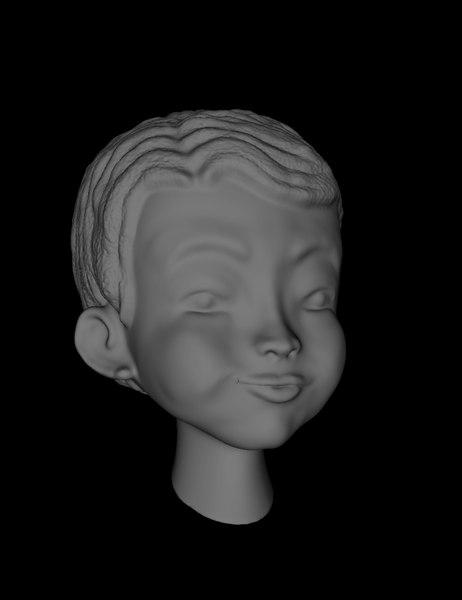 3D head boy