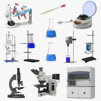 lab equipment 4 3D model