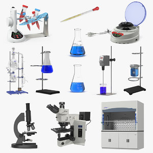 lab equipment 4 3D model