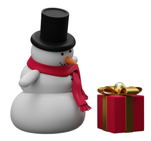 3D model snowman low-poly character