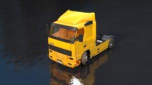 semi truck semitruck 3D