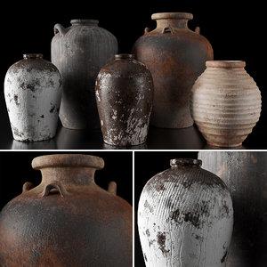 3D clay vessel model