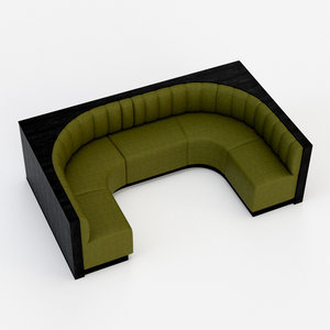 architectural visualization bench upholstered model