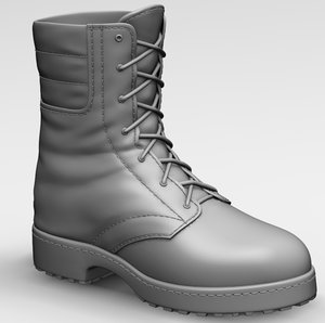 3d model zbrush army boot