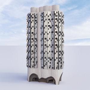 3D futuristic building 9