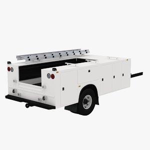 3D model service truck body shell