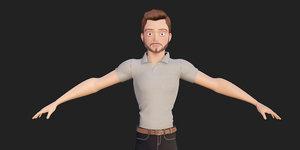 character modeled 2 blender 3D model