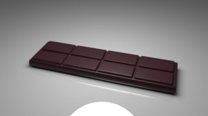 dark chocolate bar 3 3D model
