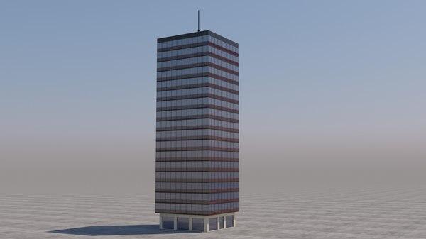 building skyscraper architecture exterior model
