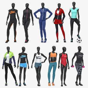 female sport mannequins model