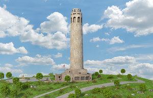 3D coit tower san francisco