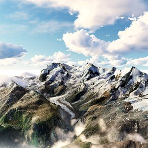 3D model riffelhorn mountain landscape