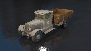 zis 5 russian truck 3D model
