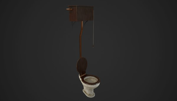 antique toilet model