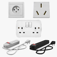 Electrical Outlets and Power Strip Sockets Collection