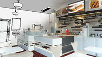 CAFE INTERIOR CONCEPT ARCHITECTURAL