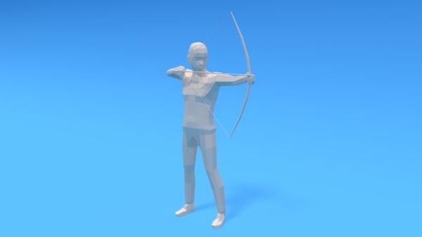 archer kid 3D model