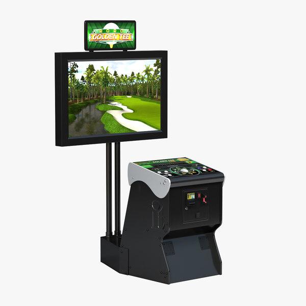 3D golden tee arcade