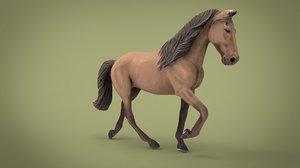 horse mammal wildlife 3D model