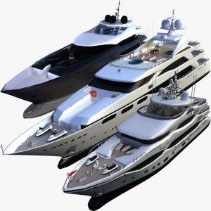 3D christensen motor yacht di model