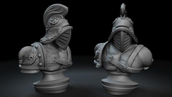 gladiator sculpture printing 3D