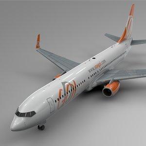 gol boeing 737-800 l421 model