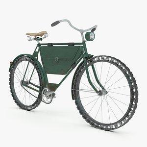 3D wwi military bike
