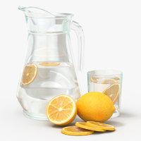 3D water lemon jar