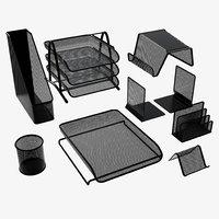 desk set organizer 3D