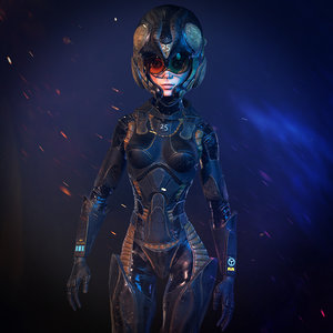 speedy pilot character armor model