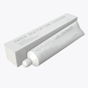3D toothpaste box paste model