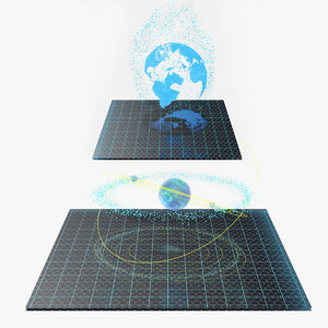 hologram earth planet 3D model