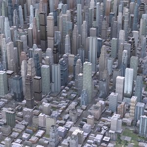 generated cityscape 3D model