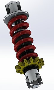 3D spring shock absorber