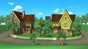 3D cartoon house home