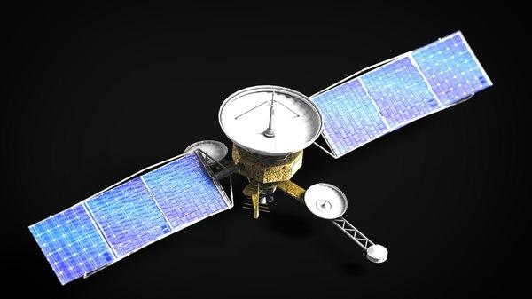 3D model satellite spaceship