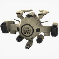 sci fi drone futuristic 3D model