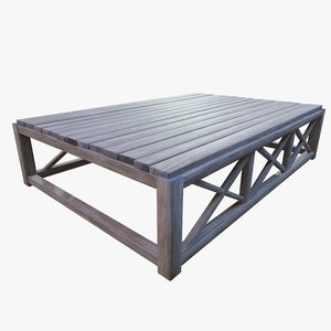 table planks 3D model