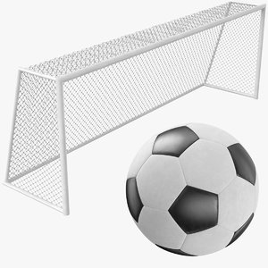3D real soccer goal ball