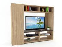 modern tv unit 3 3D model