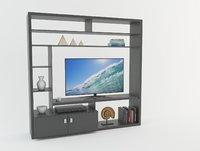 3D modern tv unit furniture