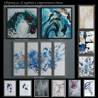 The collection of contemporary paintings set-12