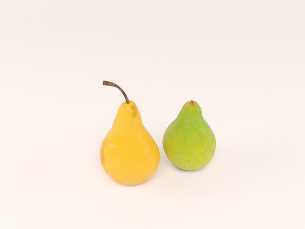 3D model pear fruit food