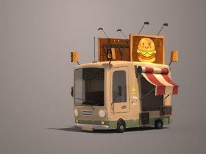 burger truck 3D model